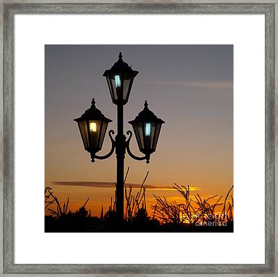 Algarve Lamps Framed Print by Michael Canning