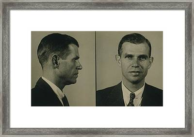Alger Hiss 1904-1996 In 1948 Mug Shot Framed Print by Everett
