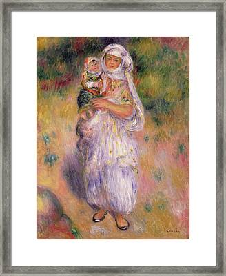Algerian Woman And Child Framed Print by Pierre Auguste Renoir