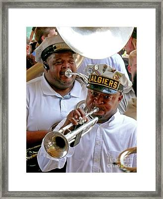 Framed Print featuring the photograph Algiers Jazz Band by Jeanne  Woods
