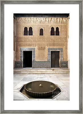 Alhambra Inner Courtyard Framed Print by Jane Rix