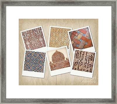 Alhambra Textures Framed Print by Jane Rix