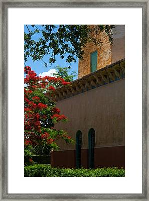 Alhambra Water Tower Windows And Door Framed Print