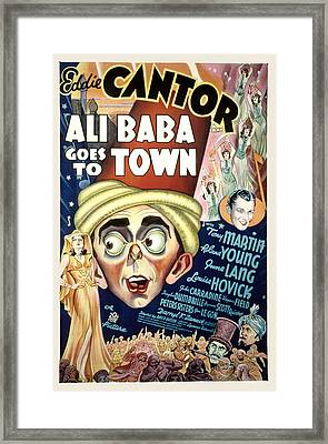 Ali Baba Goes To Town, Eddie Cantor Framed Print