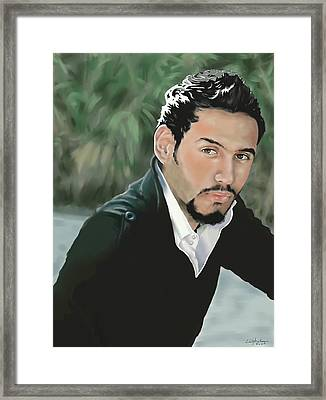 Ali Framed Print by Christopher A Newman