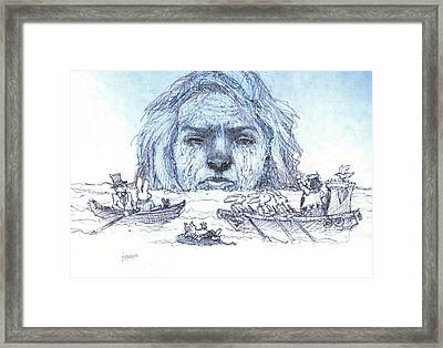 Alice Cries Me A Flood Framed Print by Herb Russel