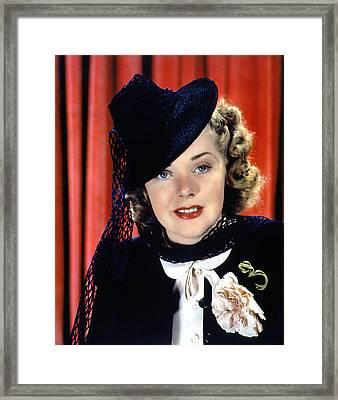 Alice Faye, 1930s Framed Print
