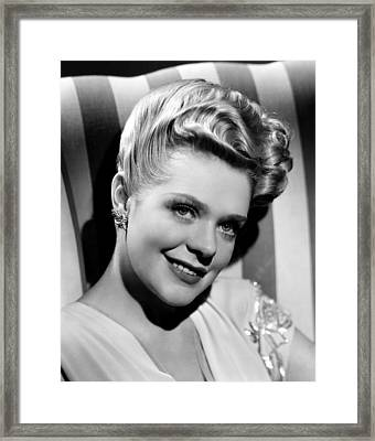 Alice Faye, Ca. 1940s Framed Print by Everett