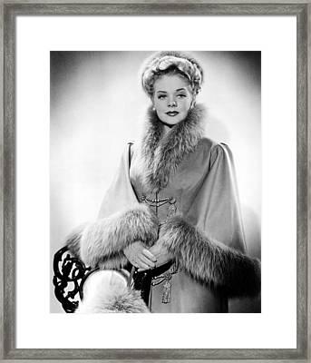 Alice Faye, Ca. Early 1940s Framed Print