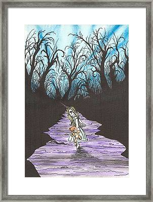 Alice On The Run Framed Print