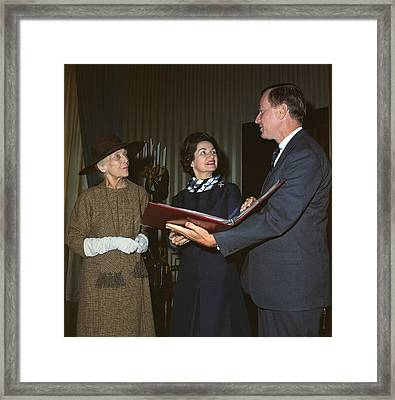 Alice Roosevelt Longworth Returns Framed Print by Everett