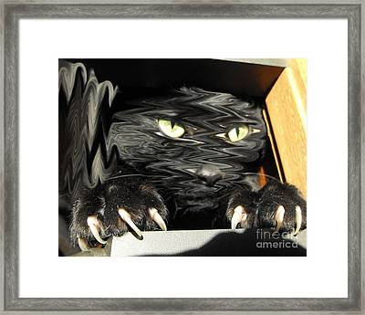 Alice's Cat Framed Print