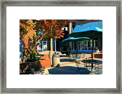 Framed Print featuring the mixed media Alice's Wonderland Cafe by Terence Morrissey
