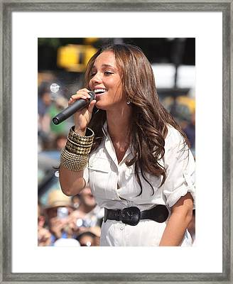 Alicia Keys On Stage For Cbs The Early Framed Print by Everett