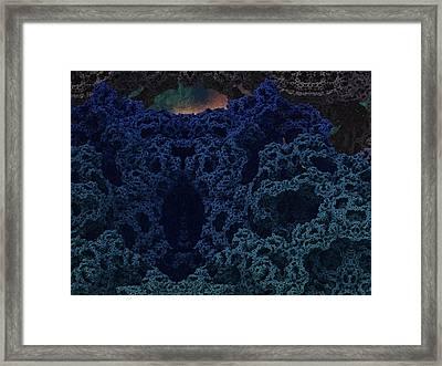 Alien Cave Framed Print by Thomas  MacPherson Jr