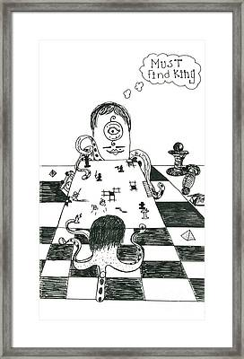 Alien Chess Framed Print by Michael Mooney
