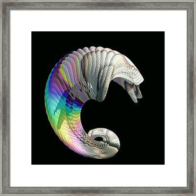 Alien Dog Framed Print by Julie Grace