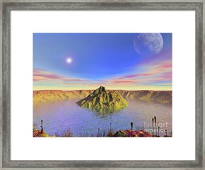 Alien Flora Flourishes In An Impact Framed Print by Walter Myers