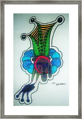 Alien Frog Framed Print by Ragdoll Washburn