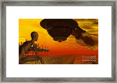 Alien Homecoming Framed Print