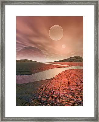Alien Landscape Framed Print by Take 27 Ltd