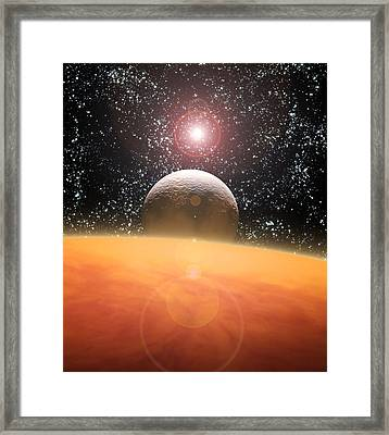 Alien Planet Framed Print by Julian Baum