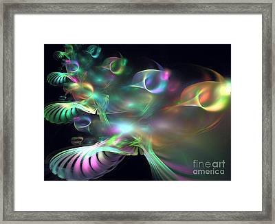 Alien Shrub Framed Print