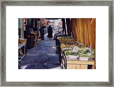 Alioto's Produce Framed Print by James Guentner