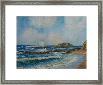 Aliso Beach Framed Print