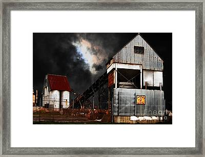 Alive And Well In America . Nightfall At The Old Industrial Sand Plant In Berkeley California . 7d13 Framed Print by Wingsdomain Art and Photography