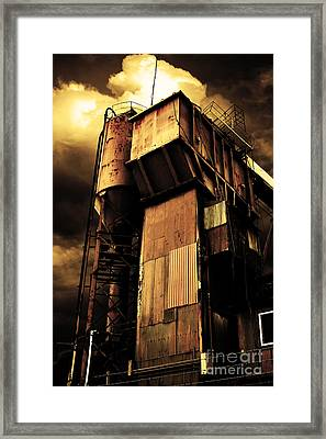 Alive And Well In America . The Old Concrete Plant In Berkeley California . Golden . 7d13967 Framed Print by Wingsdomain Art and Photography