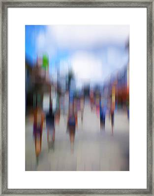Alive In The City 12 - The Tourists Framed Print