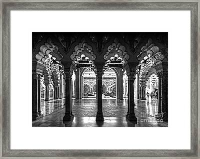 Aljaferia Palace I Bw Framed Print