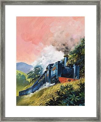 All Aboard For Devil's Bridge Framed Print by English School