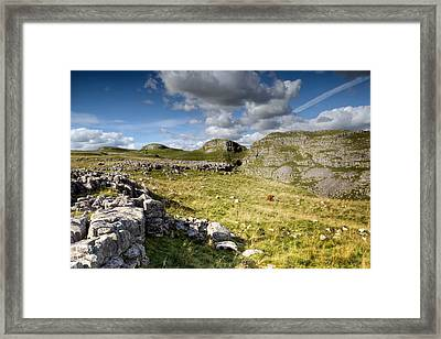 All Alone At Malham Framed Print by Chris Frost