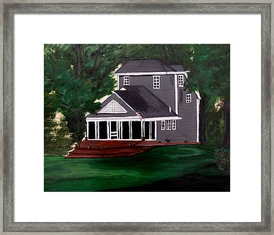 Framed Print featuring the painting All American by Ayasha Loya