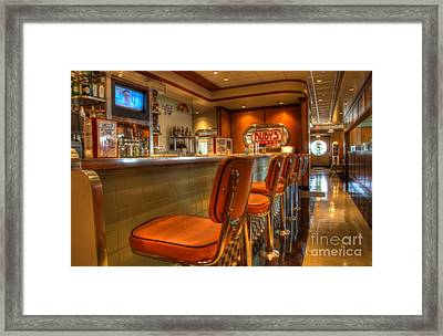 All American Diner 3 Framed Print by Bob Christopher