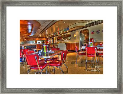 All American Diner 5 Framed Print