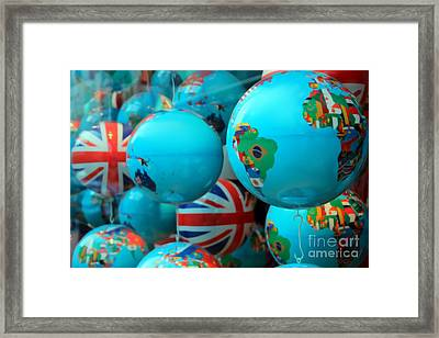 All Around The Globes Framed Print by Sophie Vigneault
