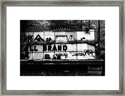 All Brand Framed Print by John Farnan