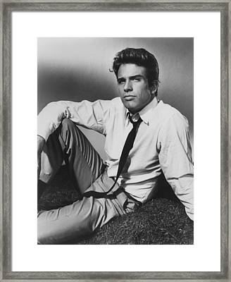 All Fall Down, Warren Beatty, 1962 Framed Print by Everett