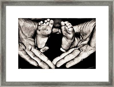 All Fingers And Toes  Framed Print by Martina Fagan