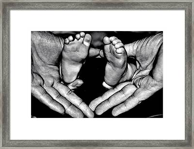 All Fingers And Toes  Version 2 Framed Print by Martina Fagan