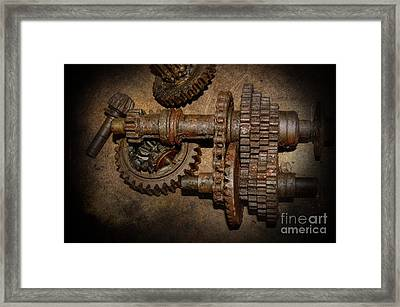 All Geared Up With No Place To Go Framed Print by The Stone Age