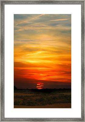Framed Print featuring the photograph All Hallows Eve Sunset by Rod Seel