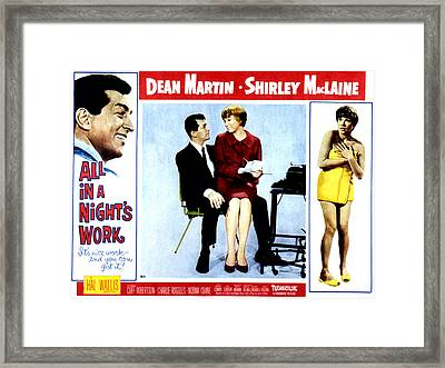 All In A Nights Work, Dean Martin Framed Print by Everett