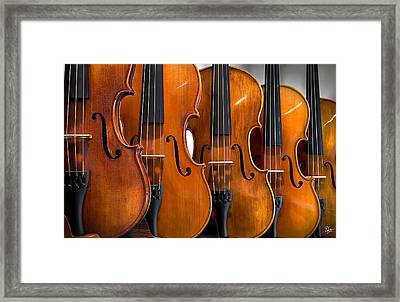 All In A Row Framed Print by Endre Balogh