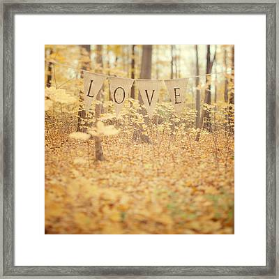 All Is Love Framed Print by Irene Suchocki