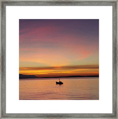 All Is Quiet Framed Print by Elvira Butler