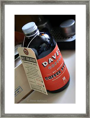 All Natural Coffee Syrup Framed Print by Anne Babineau